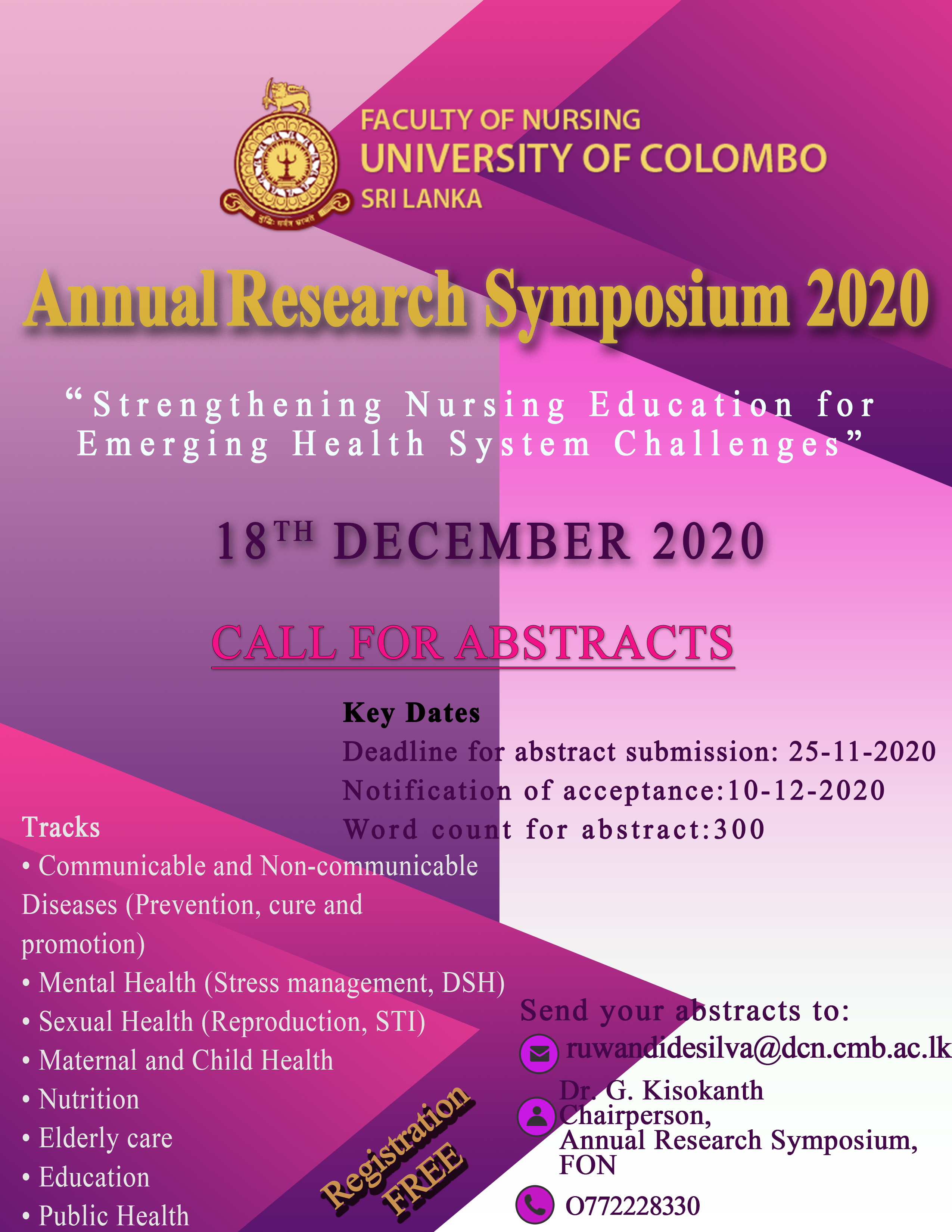 Annual Research Symposium 2020 – Call For Abstracts
