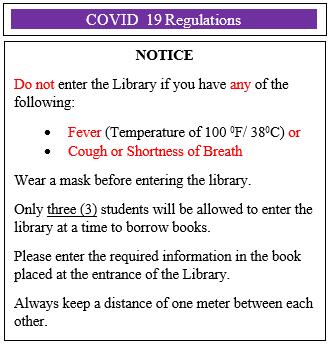 COVID 19 Regulations